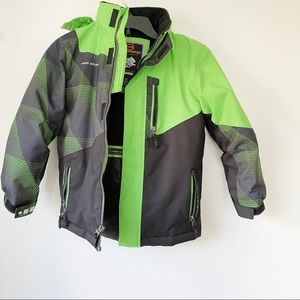 Free Country Black And Green XS Winter Jacket